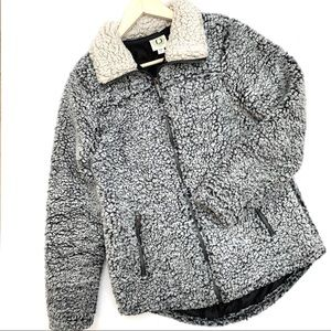 Fuda | Fleece Puffer Zip Up Jacket Small
